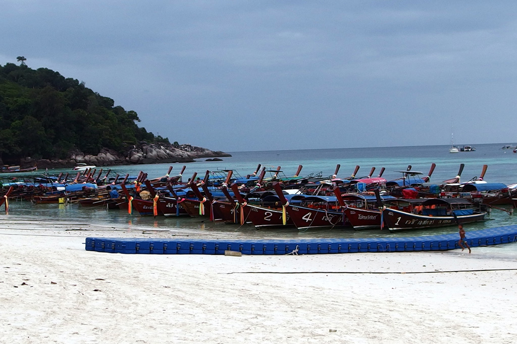 Longtail-boats on Koh Lipe
